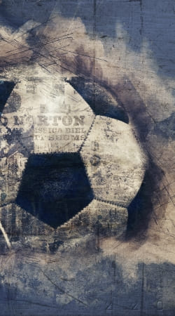 cover Abstract Blue Grunge Football