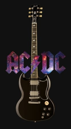 cover AcDc Guitare Gibson Angus
