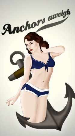 cover Anchors Aweigh - Classic Pin Up