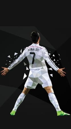 cover Cristiano Ronaldo Celebration Piouuu GOAL Abstract ART