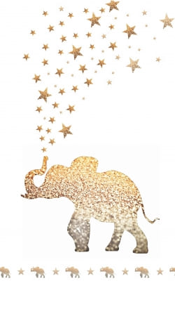 cover Gatsby Gold Glitter Elephant