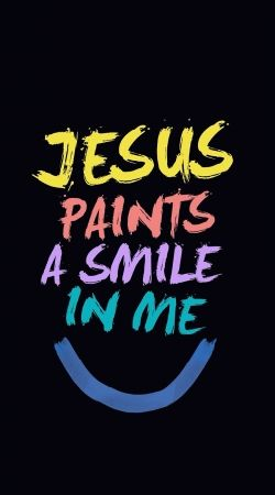 cover Jesus paints a smile in me Bible