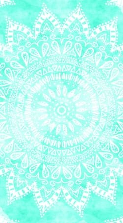cover Mint Bohemian Flower Mandala