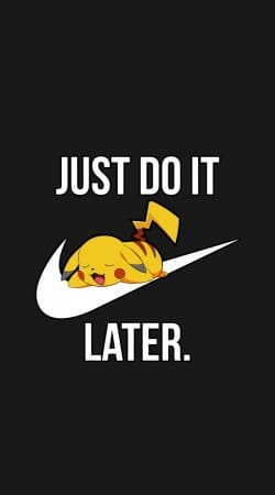 cover Nike Parody Just Do it Later X Pikachu