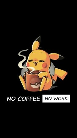 cover Pikachu Coffee Addict