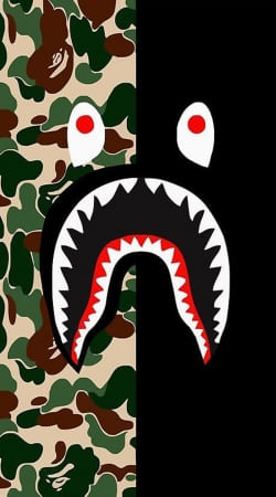 cover Shark Bape Camo Military Bicolor