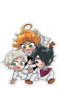 cover The Promised Neverland Emma Ray Norman Chibi