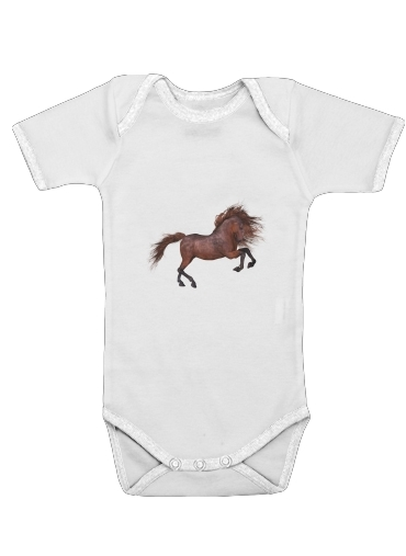 A Horse In The Sunset for Baby short sleeve onesies