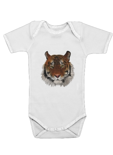 Abstract Tiger for Baby short sleeve onesies