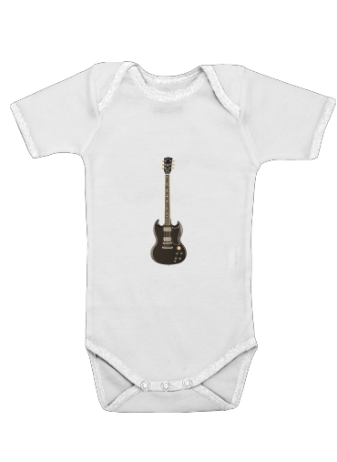 AcDc Guitare Gibson Angus for Baby short sleeve onesies
