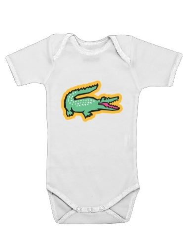 Onesies Baby alligator crocodile lacoste