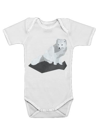Arctic Fox for Baby short sleeve onesies