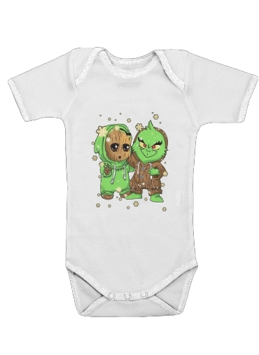 Onesies Baby Baby Groot and Grinch Christmas