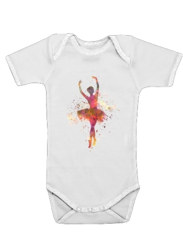 Ballerina Ballet Dancer for Baby short sleeve onesies