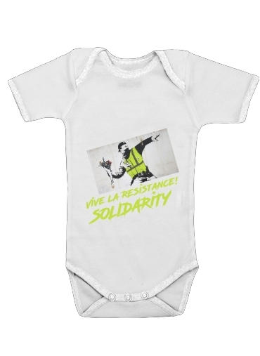 Bansky Yellow Vests for Baby short sleeve onesies