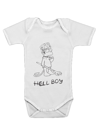 Bart Hellboy for Baby short sleeve onesies