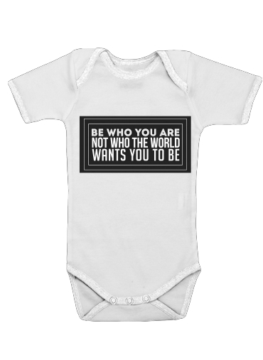 Be who you are for Baby short sleeve onesies