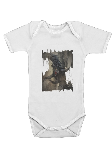 Onesies Baby Black Dragon