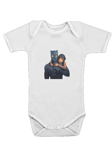 Black Panther x Mowgli for Baby short sleeve onesies