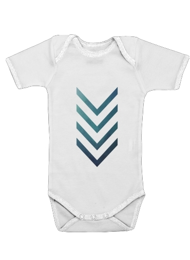 Blue Arrow  for Baby short sleeve onesies