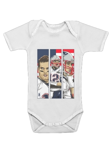 Brady Champion Super Bowl XLIX for Baby short sleeve onesies