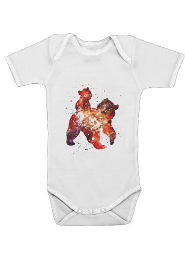 Brother Bear Watercolor for Baby short sleeve onesies