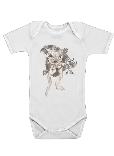 Brown Elegance for Baby short sleeve onesies