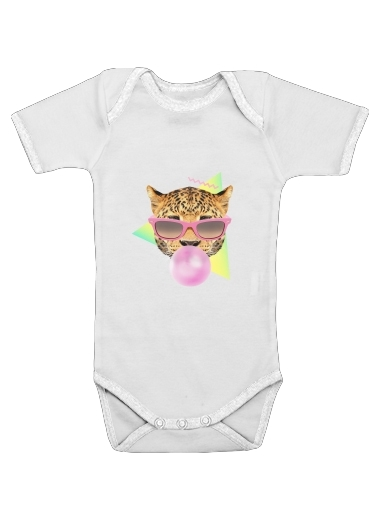 Bubble gum leo for Baby short sleeve onesies