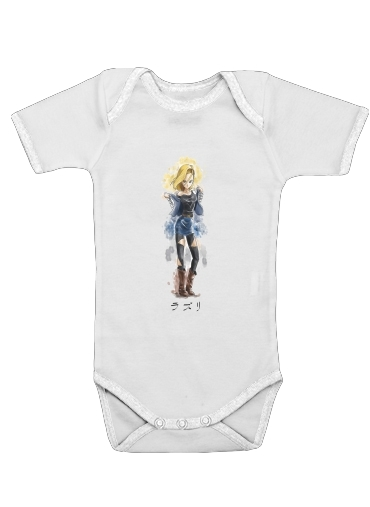 C18 Android Bot for Baby short sleeve onesies