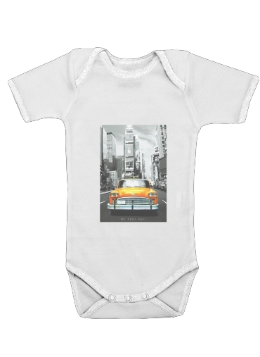 Yellow taxi City of New York City for Baby short sleeve onesies