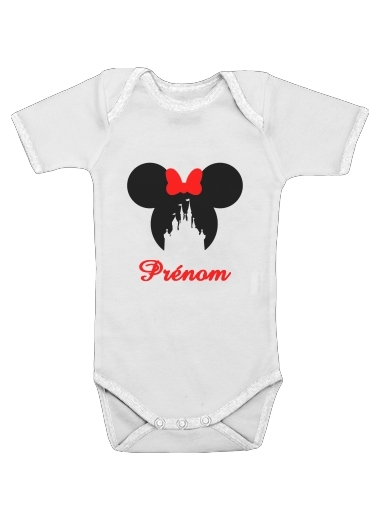 Onesies Baby castle Minnie Face with custom name