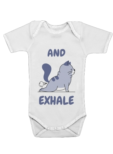 Onesies Baby Cat Yoga Exhale