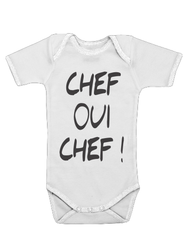 Onesies Baby Chef Oui Chef