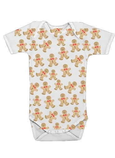 Christmas snowman gingerbread for Baby short sleeve onesies