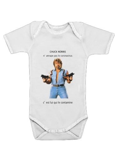 Onesies Baby Chuck Norris Against Covid