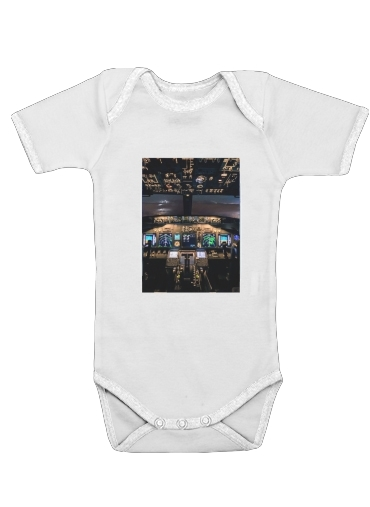 Cockpit Aircraft for Baby short sleeve onesies