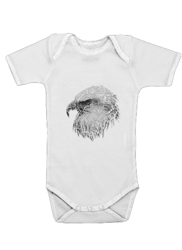 cracked Bald eagle  for Baby short sleeve onesies
