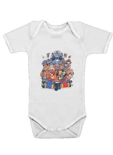 Crash Team Racing Fan Art for Baby short sleeve onesies
