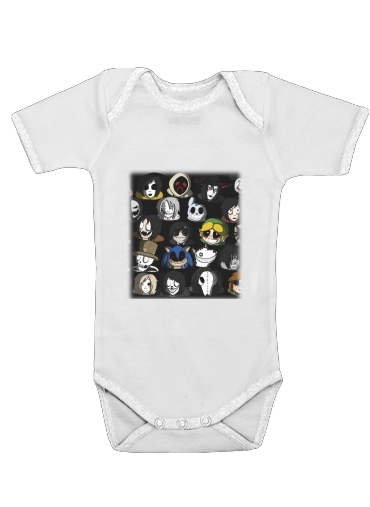Creepypasta for Baby short sleeve onesies