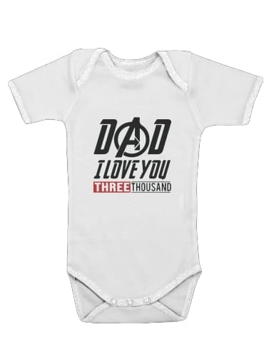 Dad i love you three thousand Avengers Endgame for Baby short sleeve onesies