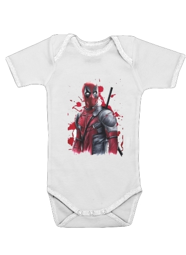 Deadpool Painting for Baby short sleeve onesies