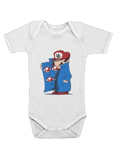 Dealer Mushroom Feat Wario for Baby short sleeve onesies