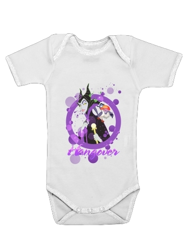 Disney Hangover: Maleficent feat. Zazu  for Baby short sleeve onesies