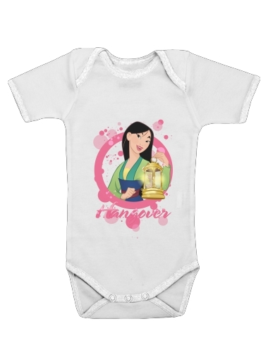 Disney Hangover: Mulan feat. Tinkerbell for Baby short sleeve onesies
