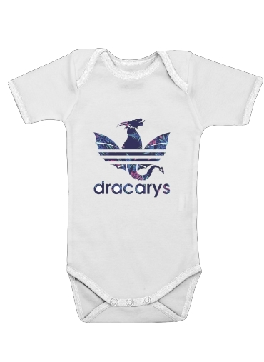 Dracarys Floral Blue for Baby short sleeve onesies