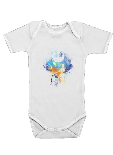 Droids Art for Baby short sleeve onesies
