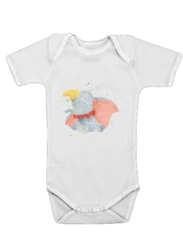 Dumbo Watercolor for Baby short sleeve onesies