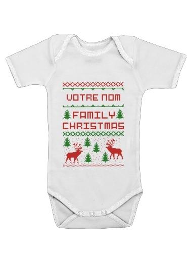 Onesies Baby Esprit de Noel avec nom personnalisable