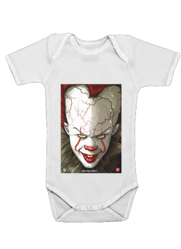 Evil Clown  for Baby short sleeve onesies