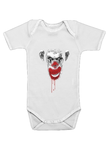 Onesies Baby Evil Monkey Clown